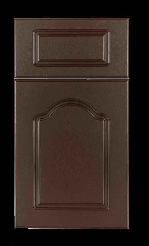 Cathedral KING DURASTYLE Raised Panel DOOR STYLES Stile Rail Inside Profile 3/4 Polymer Outside Profile Inside