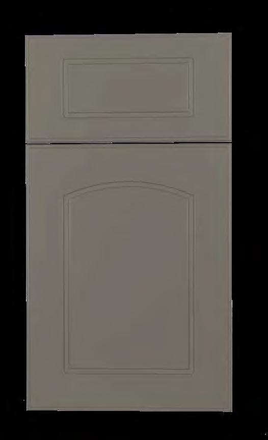 Flagler KING DURASTYLE Raised Panel DOOR STYLES Stile Rail Inside Profile 3/4 Polymer Outside Profile Inside