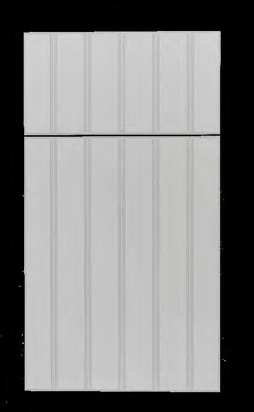 Florida Groove KING DURASTYLE Beadboard DOOR STYLES Vertical Profile: V Groove Outside Profile: Bevel