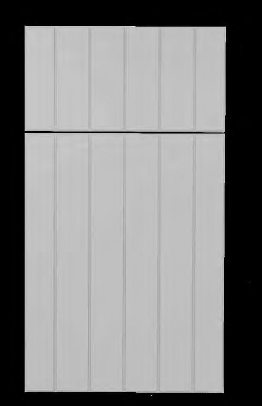 Atlantic KING DURASTYLE Beadboard DOOR STYLES Vertical Profile: Square Groove Outside Profile: Bevel