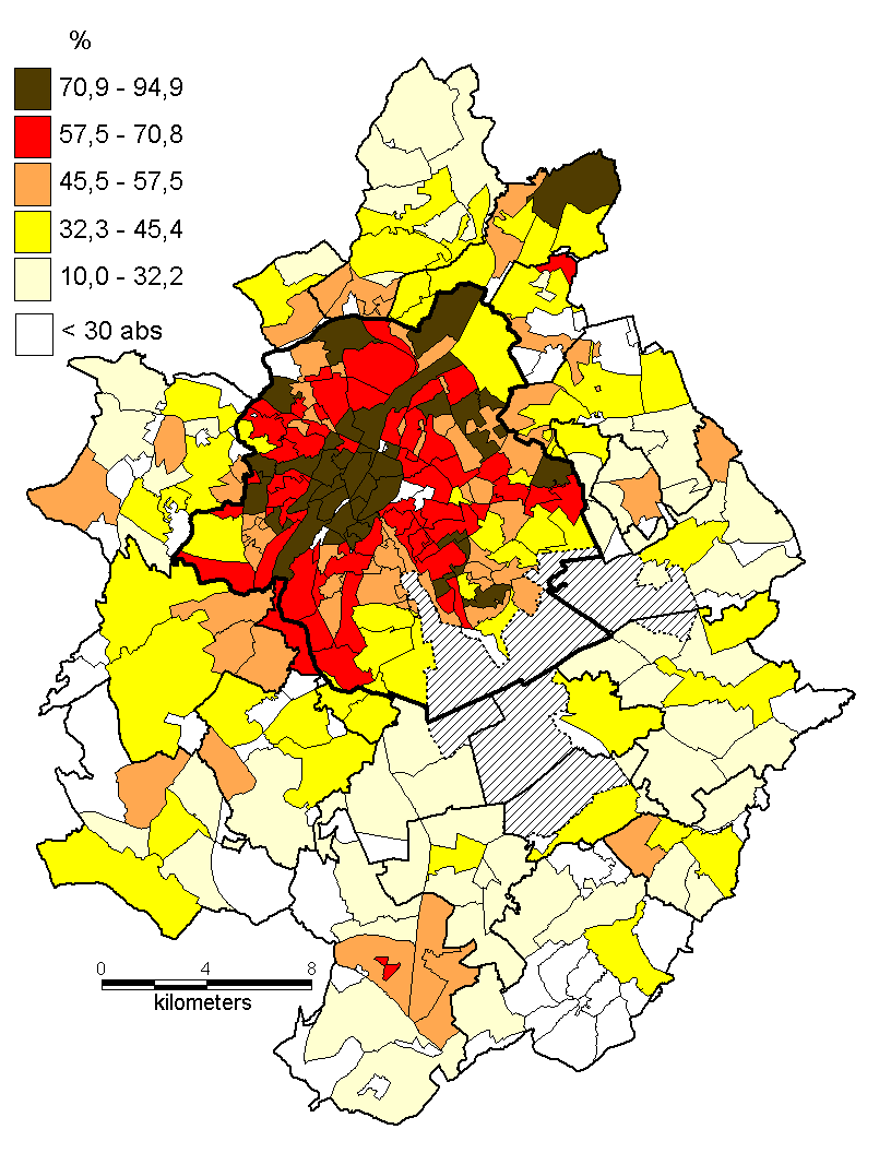 Brusselse agglomeratie (in %) Totaal