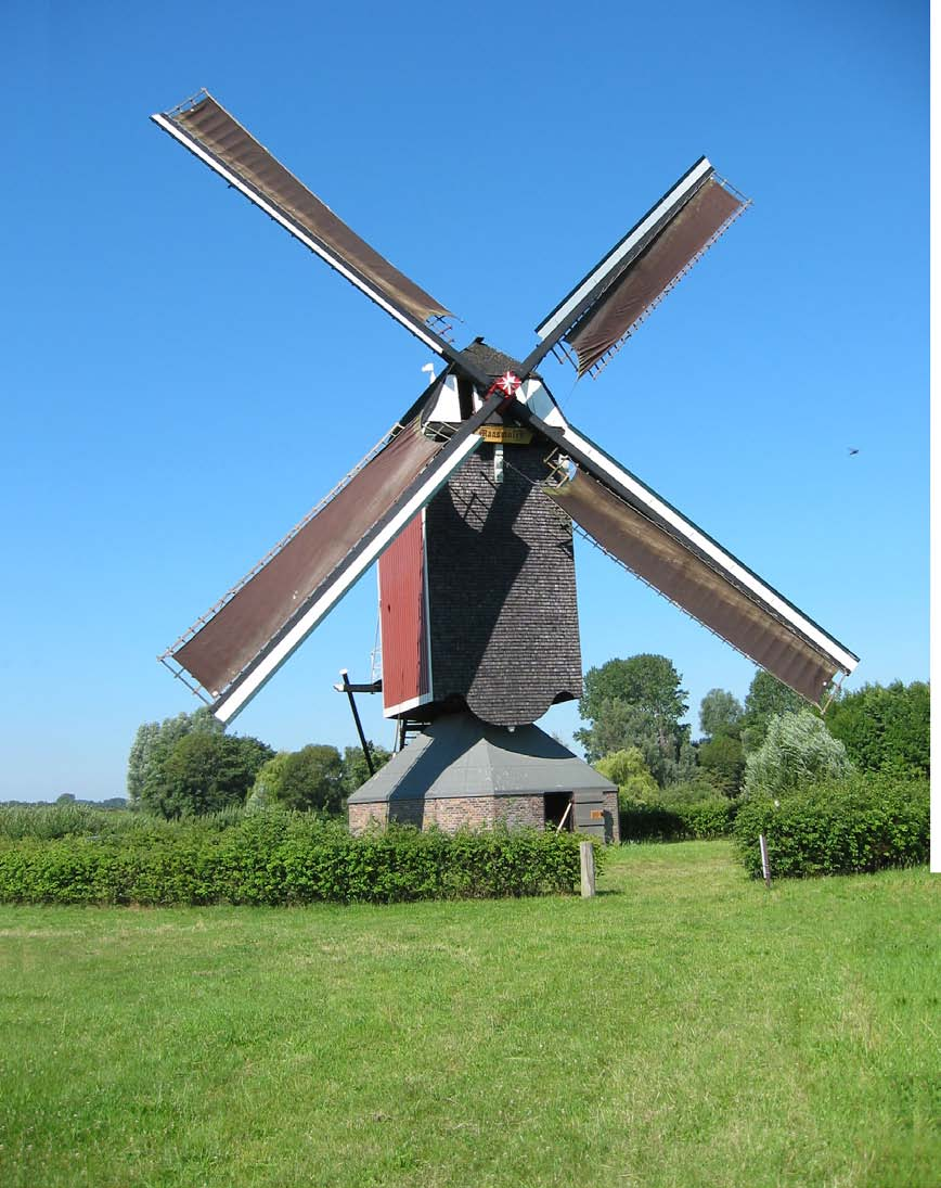 De standerdmolen is het oudste type windmolen