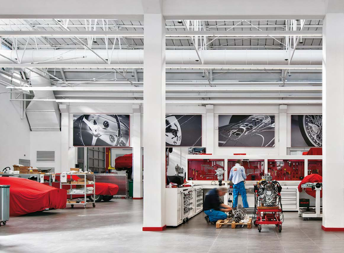 3 Productiviteit De visuele prestatie optimaliseren Ferrari S.p.A., Maranello IT Architectuur: Prospazio, Modena IT Lichtontwerp: Arch.