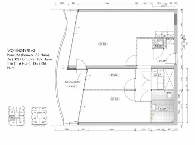 Appartement type A3 Woningtype A3