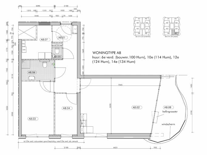 Appartement type A8 Woningtype A8