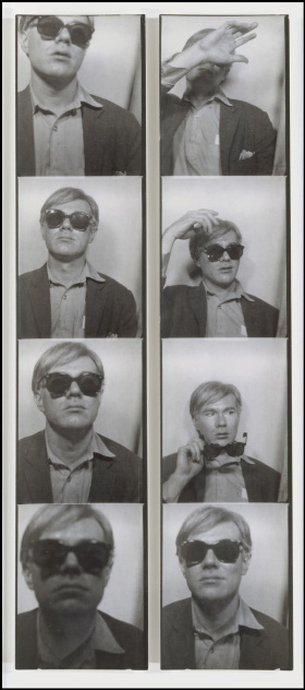 Photobooth Self-Portrait Andy Warhol, ca. 1963 Gelatinezilverdruk elk 19,6 3,6 cm The Metropolitan Museum of Art.