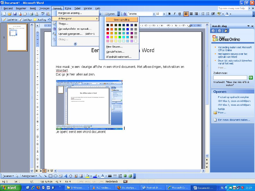 mettre document word en pdf