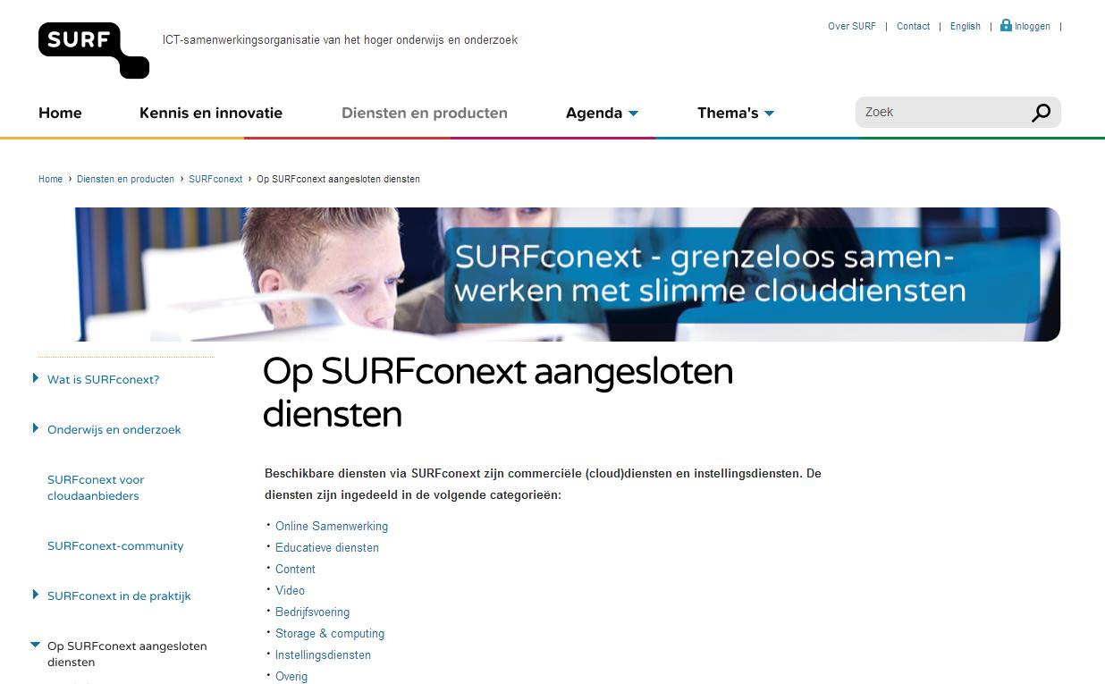 SurfConext: Broker clouddiensten Cloud