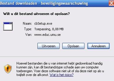 Klik op Download