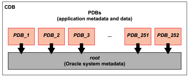 F Oracle12c New Features 12c Multitenant shared resources (CDB level): background processes, redo log files, memory, control files, Oracle metadata, common temporary tablespace, UNDO tablespace,