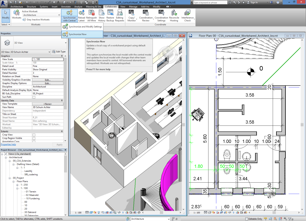 blad 14 C3A Revit-Worksharing C3A-Workshop 7 jan.