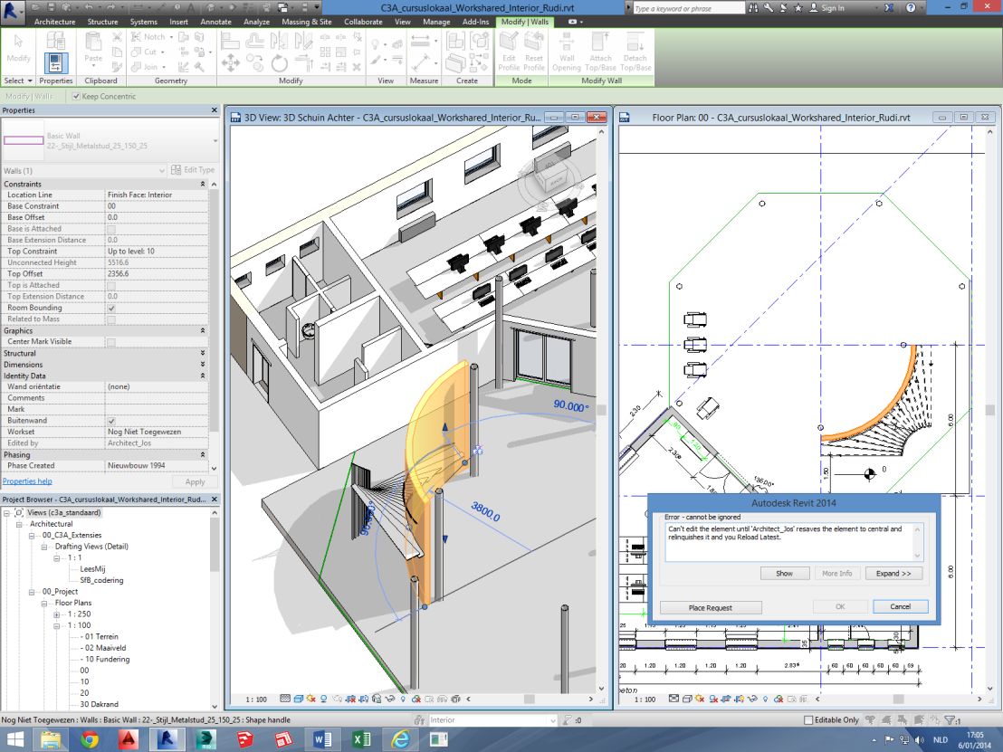 blad 18 C3A Revit-Worksharing C3A-Workshop 7 jan. 2014 3.