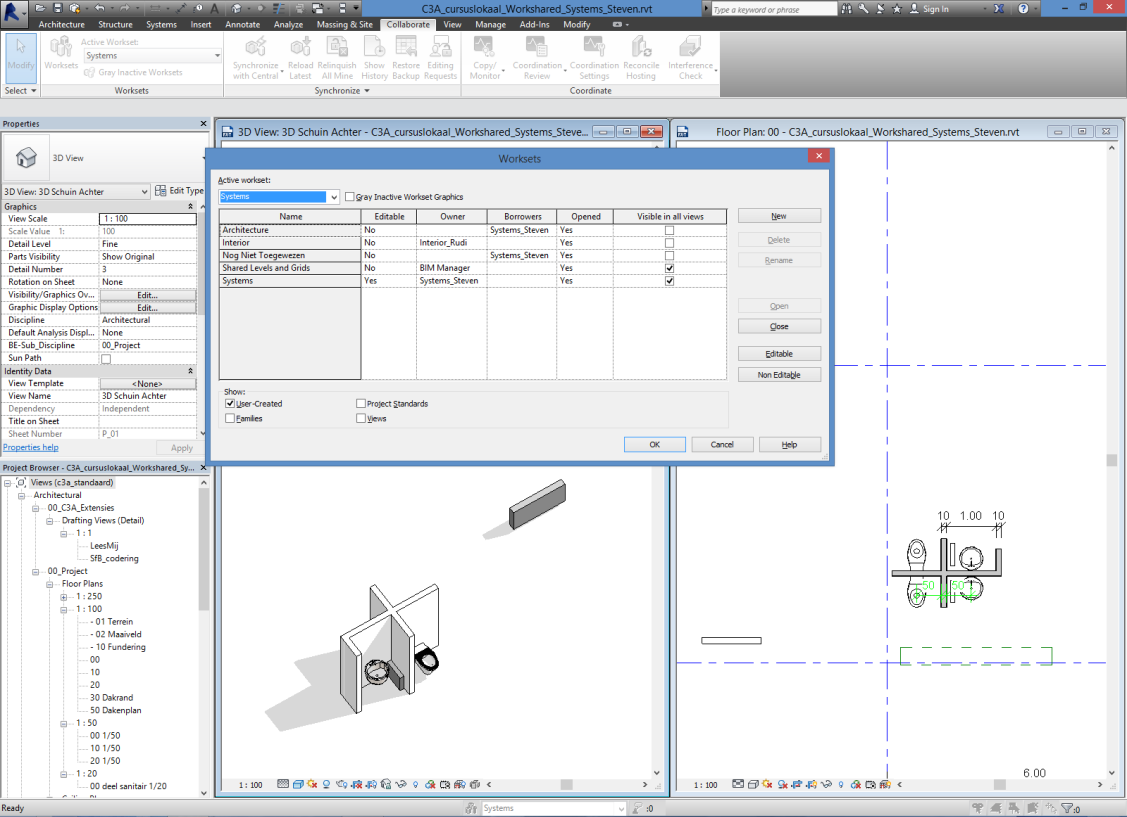 blad 20 C3A Revit-Worksharing C3A-Workshop 7 jan. 2014 3.5 Speciale situatie met Groups : Als bijv.