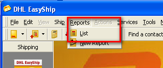35 11 Rapportages portages In DHL EasyShip 5.