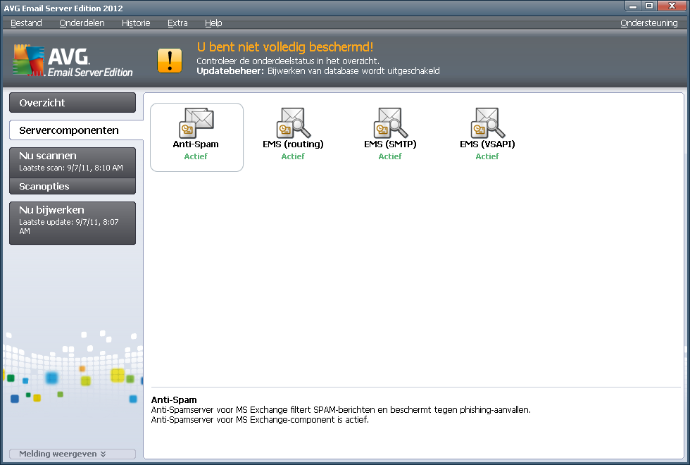 5. E-mailscanner voor MS Exchange Server 2003 5.1.