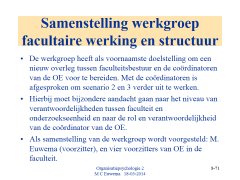 Diffusion Sensing and Calibration Indicators of Institutionalization ~Hoe weet je of iets echt is ingedaald?