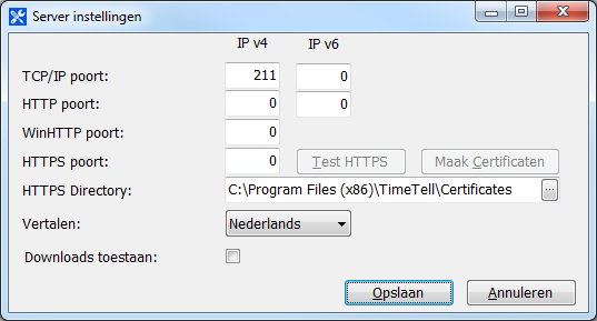 3.3.4. Configuratie applicatieserver Verder kan men nog de applicatieserver instellen. 1. Start de Timetell Administrator via het Windows opstart menu. 2.