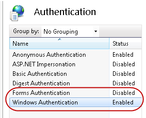 3.5.5. Configuratie Windows Authentication Default werkt de TimeTell webclient met een login dialoog.