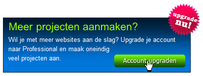 1 Professional Account formulier invullen Afbeelding 43: Account upgraden Nadat je op Account aanmaken of Account upgraden hebt geklikt (zie 4.