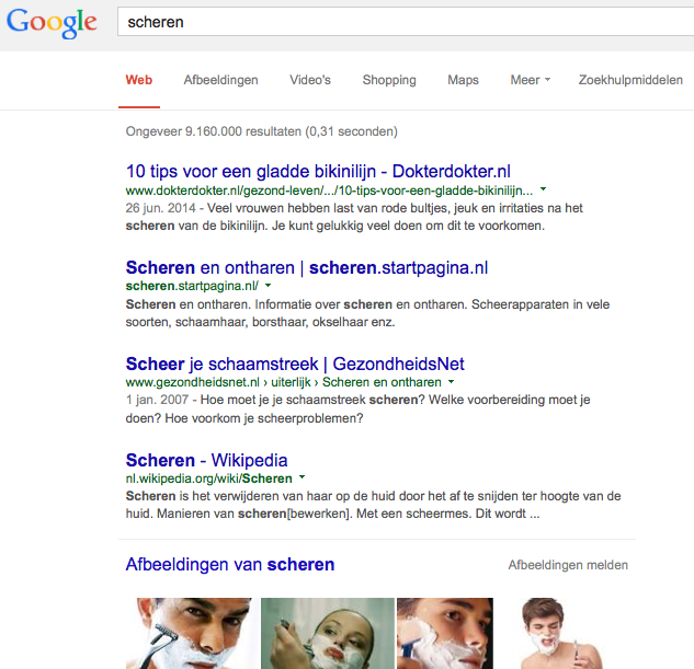 Google-hits en advertenties