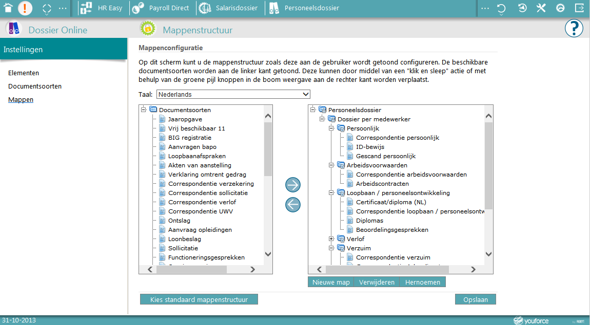 Youforce - Configuratie 21 Via Invoegen