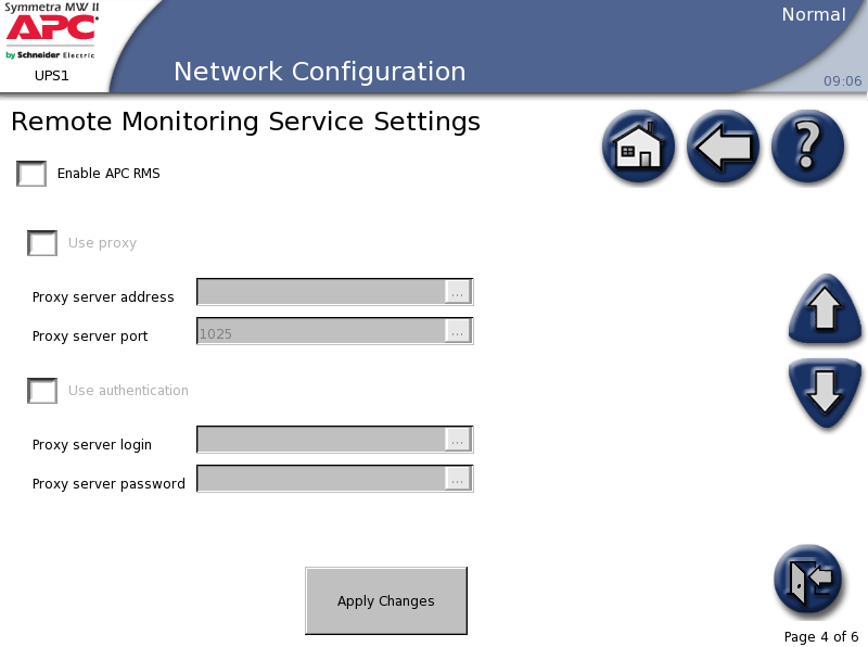 Met interne bypass Configuratie 5. Configureer de Remote Monitoring Service Settings (Remote Monitoring Service-instellingen).