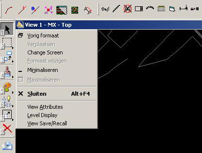 > [CAD menu] > Workspace -> Preferences > operation Kies open two application windows Om het grafische scherm of en