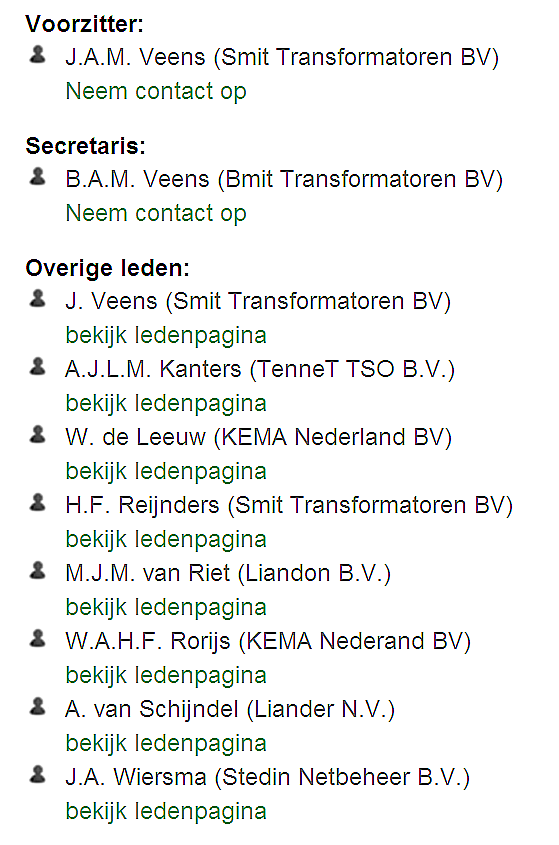 A2-NL (Transformatoren) Leden on http://www.cigre.