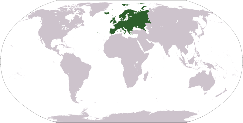The countries in Europe: Albania Andorra Azerbeidzjan Belgium - Bosnia and Herzegovina Bulgaria Cyprus Denmark Germany Estonia Finland France Georgia Greece Hungary Iceland Ireland Italy Croatia