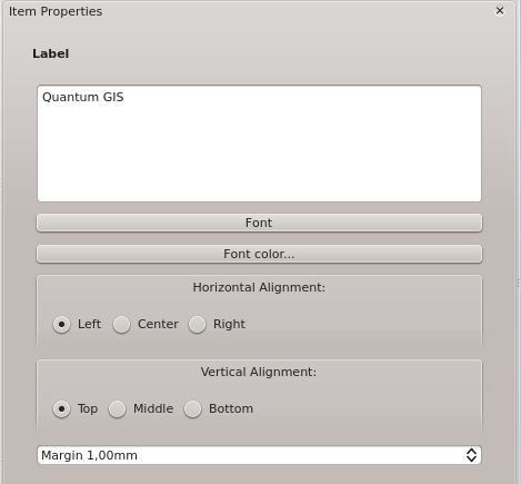 The General options dialog of the map Item Properties tab provides following functionalities (see Figure_composer_5): Figuur 18.