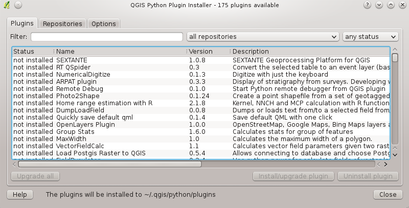 Manager and is automatically loaded. Using the QGIS Python Plugin Installer In order to download and install an external Python plugin, go to Plugins Fetch Python Plugins.
