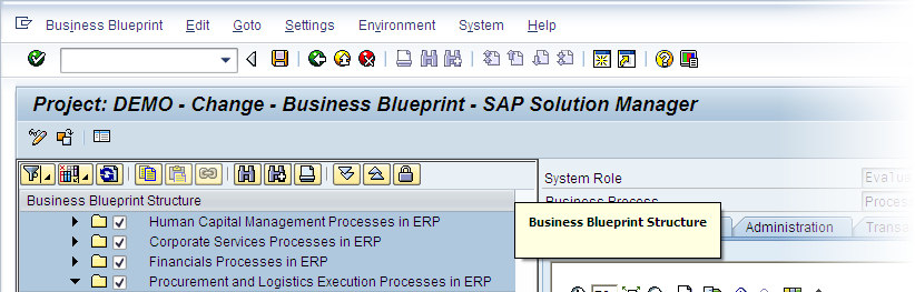 Process Repository SAP Business Process