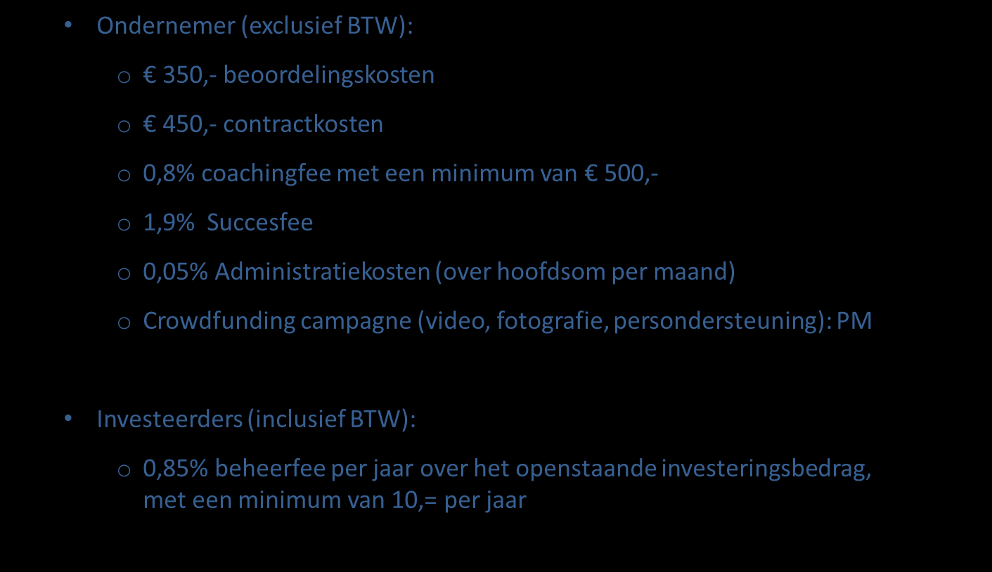 Prijsstructuur Co in