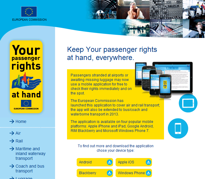 Passenger rights app EU