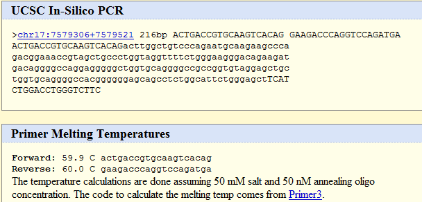 Test whether these primers generate a unique amplicon, using in silico PCR ga naar