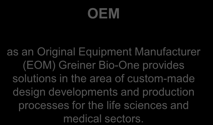 Greiner Bio-One is an international medical technology company made up of four business divisions.