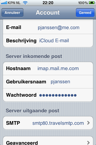 Instructies Apple iphone & ipad icloud accounts