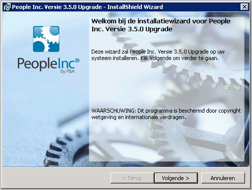 2 1.1 Installeren van de upgrade Installeer het upgrade programma op de machine waarop de database geïnstalleerd is.