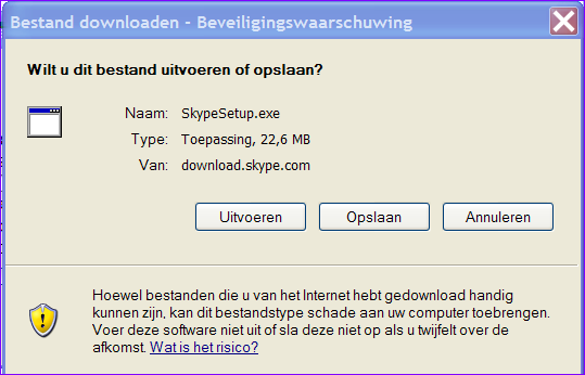 5 5. De gratis Skype-software downloaden en installeren.