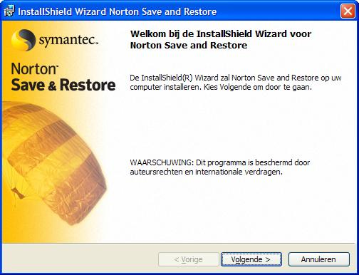 De configuratie van de Windows Installer start en de software zoekt de