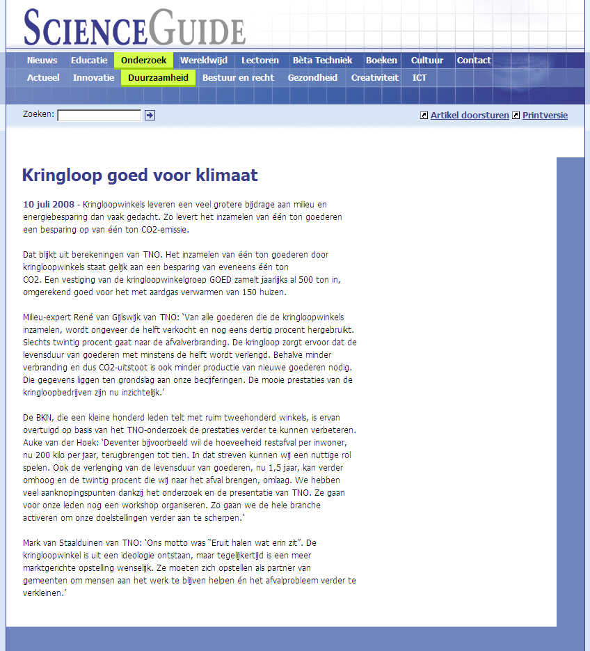 Scienceguide http://www.scienceguide.nl/article.asp?