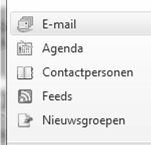 bij Outlook Express bij Windows Mail Contactpersonen Of bij Windows live Mail (WLM) onderaan links 4.