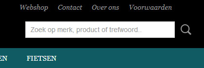 16.4 Pagina weergeven in footer of rechts van categoriemenu U kunt een pagina in de footer van de webshop weergeven. De footer is de grote lichtgrijze balk onderaan de webshop.