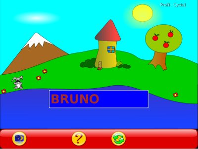 This mode can encourage the child read his name. The second mode asks the child to enter his name. It can help the child learn how to use the keyboard. 1.8.