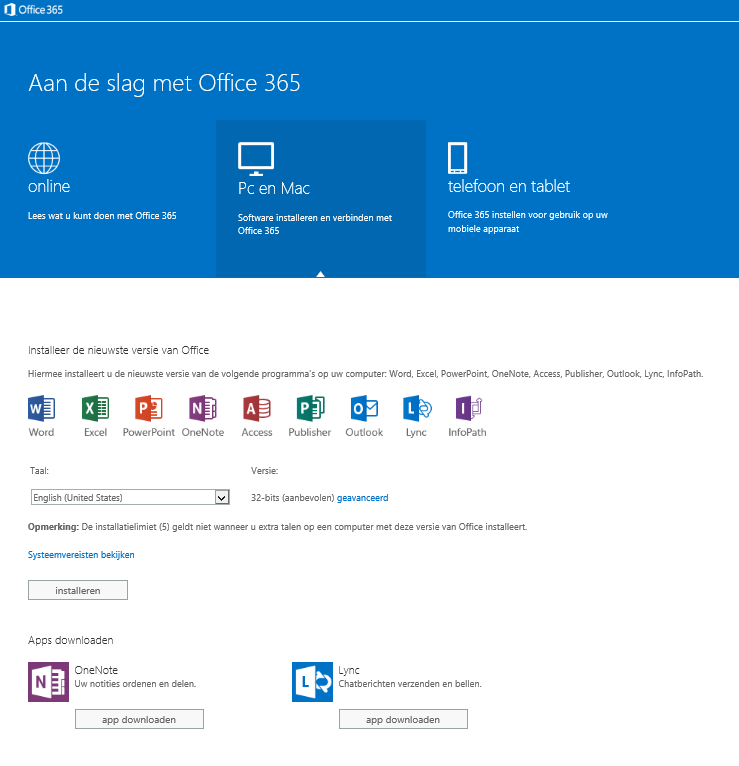Aan de slag : Werken met Outlook Web App U bent wellicht vertrouwd met Outlook 2007 of Outlook 2010. Beide programma's draaien alleen op uw eigen pc of laptop.