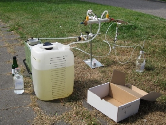 Based on the preliminary results it was expected that a larger volume of groundwater was necessary in order to detect the micro-organisms present in low concentrations, for this a new sampling method