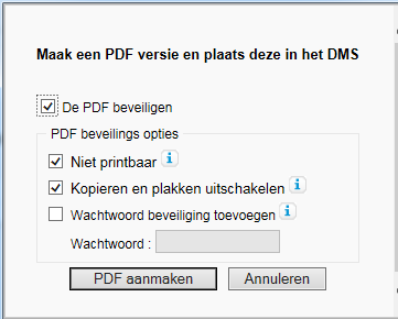 Dossier of document permanente archivering naar PDF / A Via een aanvullende assistent (bijv.