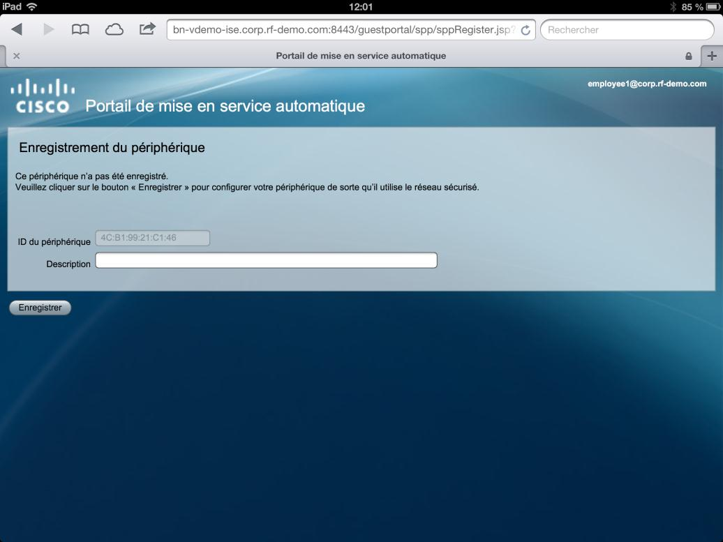 26 Demo Cisco ISE Introduction d un nouvel appareil dans