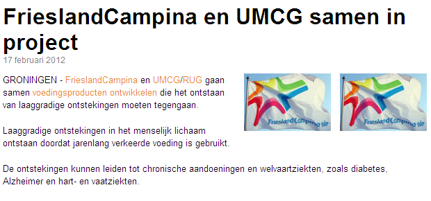 Groningen (UMCG) announce cooperation with