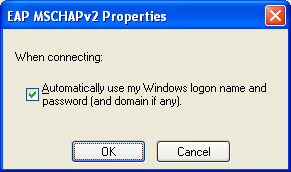14. Selecteer Automatically use my Windows logon name and password als laatste actie. 15.